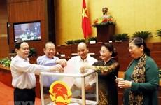 组图:越南国会主席阮氏金银当选国家委员会主席