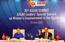 组图:东盟领导人关于数字时代的妇女赋权特别会议召开