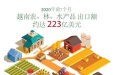 图表新闻:今年前7月越南农林水产品出口额约达223亿美元