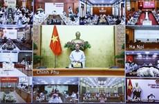 组图:政府总理举行全国抗击新冠肺炎疫情视频会议