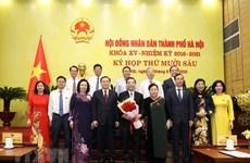 组图:朱玉英同志当选河内市人民委员会主席