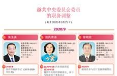 图表新闻:越共中央委员会委员的职务调整