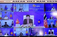组图:东盟外长会议以视频形式召开