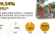图表新闻:2020年越南用电户比例达99.54%