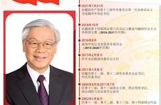 图表新闻:越共中央总书记、国家主席阮富仲简历