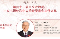 图表新闻:越共十三届中央政治局、 中央书记处和中央检查委员会主任名单