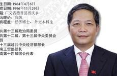 图表新闻:越共中央政治局委员陈俊英同志任中央经济部部长