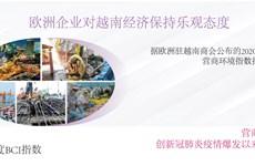 图表新闻:欧洲企业对越南经济保持乐观态度