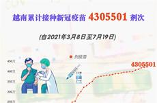 互动图表: 越南接种新冠疫苗人数超过430多万人