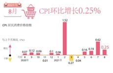 图表新闻:8月份越南CPI指数环比增长0.25%