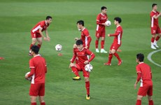 Asian Cup 2019:越南球队为迎战伊拉克球队做好准备(组图)