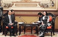 胡志明市与中国重庆市加强合作