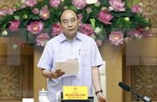 阮春福总理主持召开有关信贷体系结构重组的会议