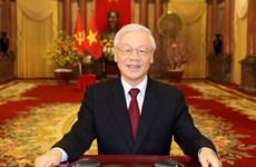 组图:越共中央总书记、国家主席阮富仲发表2020年庚子新春贺词