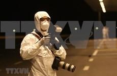 组图:越通社为在新冠肺炎疫情背景下工作的记者做好安全保障工作
