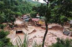 组图: 奠边省南坡县遭受洪水灾害严重损失