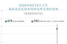 图表新闻:截至2020年8月24日上午7时,越南尚未发现新增新冠肺炎确诊病例