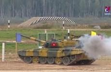 """越南参赛队在""""坦克两项""""比赛第二组名列第二"""