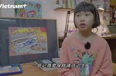 网民对10岁女孩绘制有关新冠肺炎疫情的绘画作品颇感兴趣