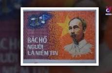 热爱制作胡伯伯邮票拼贴画的画家