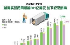 图表新闻:2020年11个月越南实现贸易顺差201亿美元 创下记录新高