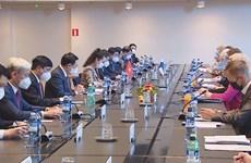 越南国会主席王廷惠与芬兰议会议长举行会谈