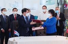 越南向古巴购买500万剂新冠疫苗的合作文件签署