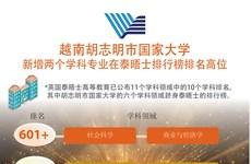 图表新闻:越南胡志明市国家大学新增两个学科专业在泰晤士排行榜排名高位