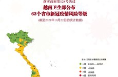 互动图表:落实政府第128号决议  越南卫生部公布63个省市新冠疫情风险等级