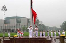 越南为原国家主席黎德英举行国葬  全国降半旗致哀(组图)