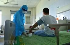 组图:在中央热带疾病医院第二分院治疗的最后6名新冠肺炎患者身体状况良好