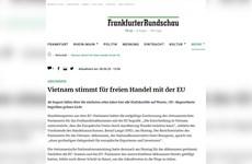 国际媒体纷纷报道越南国会批准EVFTA