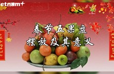 春节五果盘摆放及其意义