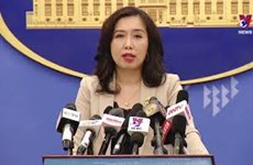 外交部发言人黎氏秋姮主持例行记者会