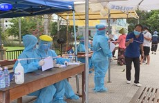 岘港市大学生积极参加疫情防控志愿服务工作
