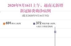 图表新闻:2020年9月16日上午,越南无新增新冠肺炎确诊病例