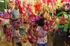 中秋节即将来临胡志明市灯笼街被热闹气氛包围