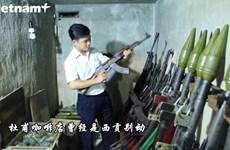 胡志明市中心地下武器存储基地上面的咖啡店