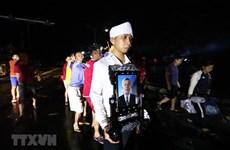 组图:广平省丽水县洪水中的葬礼