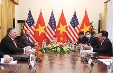 组图:越南政府副总理兼外长范平明与美国国务卿蓬佩奥举行会谈
