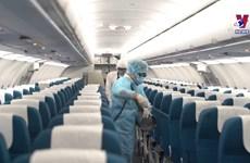 越航严格实行搭载国际旅客的消毒制度