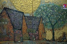 '沉默的回忆'——诉说首都河内美好回忆的磨漆画展