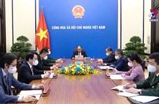 越南国家主席阮春福与联合国秘书长古特雷斯通电话