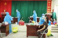 组图:河内市在疫情高风险地区进行大规模新冠病毒检测