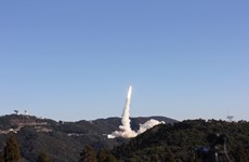 """越南""""微龙""""卫星发射升空 顺利与火箭分离(组图)"""