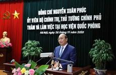 越南政府总理阮春福造访越南国防学院