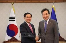 越南政府副总理王廷惠会见韩国总理和国会议长