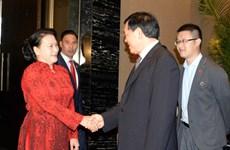 越南国会主席阮氏金银访华期间的活动(组图)