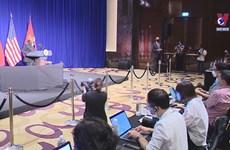 美副总统哈里斯就访越结果召开记者会