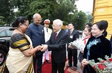 阮富仲举行隆重仪式 欢迎印度总统拉姆·纳特·科温德访越   印度总统访问期间开展各项活动(组图)